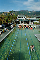 Calistoga Spa Lap Pool - Calistoga Spa Hot Springs is the perfect place for an enjoyable stay in the Napa Valley. Facilities include spas, four outdoor mineral water pools, exercise and aerobics rooms and professional massage service as well as the spa's famous mud baths.