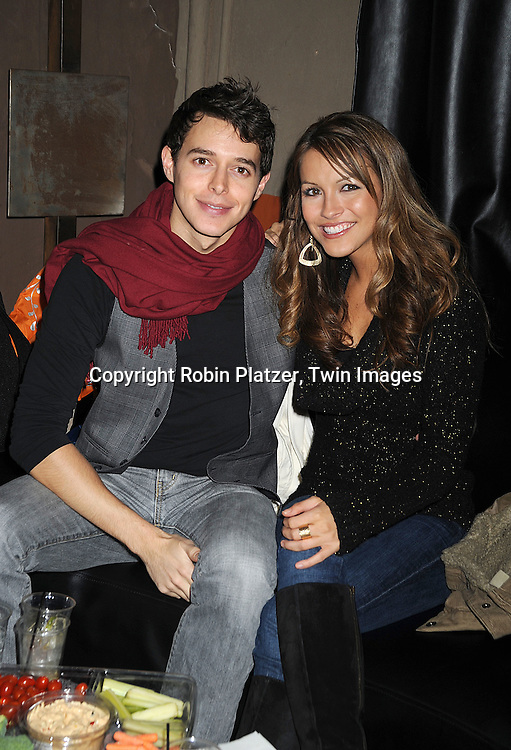 Daniel Kennedy and Chrishell Stause..at The Stockings With Care Benefit at Bar 13 on  December 4, 2008 in New York City. ......Robin Platzer, Twin Images