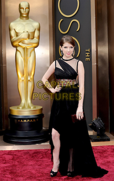 HOLLYWOOD, CA - MARCH 2: Anna Kendrick arriving to the 2014 Oscars at the Hollywood and Highland Center in Hollywood, California. March 2, 2014. <br /> CAP/MPI/COR<br /> &copy;Corredor99/ MediaPunch/Capital Pictures