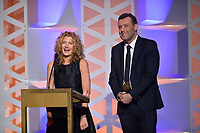 NEW YORK - MAY 18: Gina Mingacci and Lee Morris appear onstage at the 78th Annual Peabody Awards at Cipriani Wall Street on May 18, 2019 in New York City. (Photo by Anthony Behar/FX/PictureGroup)