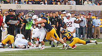 Berkeley- November 22, 2014: Christian McCaffrey during the Stanford vs Cal at Memorial Stadium in Berkeley Saturday afternoon<br /> <br /> The Cardinal defeated the Bears 38 - 17