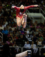 Alicia Sacramone of Brestyan's competes on the beam during 2012 US Olympic Trials Gymnastics Finals at HP Pavilion in San Jose, California on July 1st, 2012.