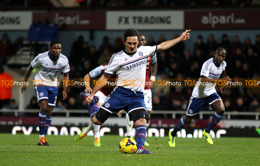Frank Lampard scores the 1st goal for Chelsea from the penalty spot - West Ham United vs Chelsea, Barclays Premier League at Upton Park, West Ham - 23/11/13 - MANDATORY CREDIT: Rob Newell/TGSPHOTO - Self billing applies where appropriate - 0845 094 6026 - contact@tgsphoto.co.uk - NO UNPAID USE