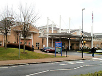 "Pictured: The Royal Glamorgan Hospital in Llantrisant, Wales, UK. STOCK PICTURE<br /> Re: An inspection by the Human Tissue Authority (HTA) uncovered 19 major shortfalls and 13 minor shortfalls in the mortuary and related areas at Royal Glamorgan and Prince Charles Hospitals run by Cwm Taf University Health Board which ""compromise the dignity of the deceased"", it has been revealed.<br /> Both sites were criticised for their cleanliness and maintenance.<br /> There were signs of damp and in areas where the bodies are stored, and rust on refrigerated body store doors Royal Glamorgan, in Llantrisant.<br /> Office workers in a building nearby, were found to be in ""direct line of sight"" to bodies being admitted and released from the mortuary.<br /> While at the Prince Charles Hospital site in Merthyr Tydfil, inspectors found residual blood on the floor of the main postmortem suite, as well as hair and small pieces of body tissue in the drains.<br /> In addition, the inspection unearthed problems with security arrangements at both sites, with the mortuary at the Royal Glamorgan found to be unsuitably covered to prevent members of the public from potentially seeing dead bodies."