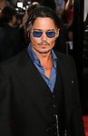 "WESTWOOD, CA. - June 23: Actor Johnny Depp arrives at the 2009 Los Angeles Film Festival's premiere of ""Public Enemies"" at the Mann Village Theatre on June 23, 2009 in Westwood, Los Angeles, California."