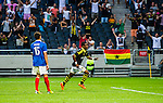 Solna 2014-07-24 Fotboll Europa League AIK - Linfield FC :  <br /> AIK:s Kennedy Igboananike har gjort 1-0 och jublar<br /> (Foto: Kenta J&ouml;nsson) Nyckelord:  AIK Gnaget Friends Arena Linfield LFC Europa League Kval jubel gl&auml;dje lycka glad happy