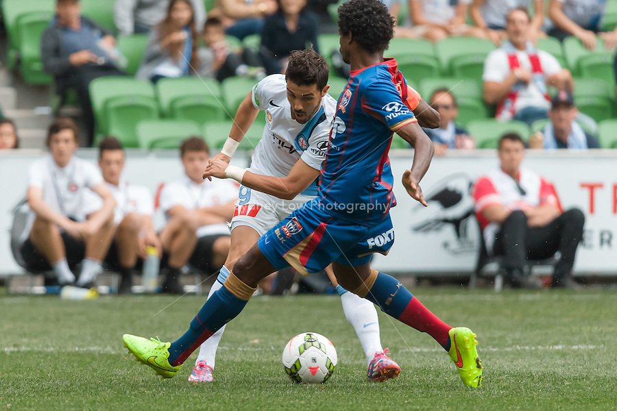 Spanish player David VILLA of Melbourne City in action during the round 2 match between Melbourne City and Melbourne Victory in the Australian Hyundai A-League 2014-15 season at AAMI Park, Melbourne, Australia.