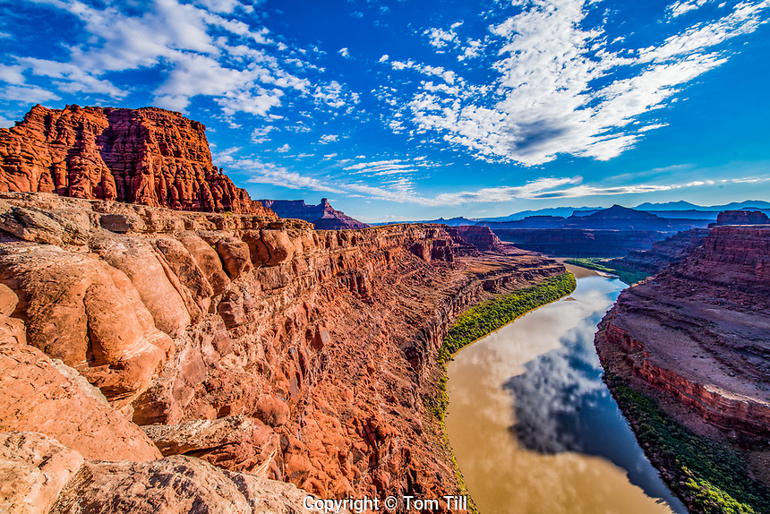 Meander Canyon view at Thelma and Louise Point, Colorado River, Utah
