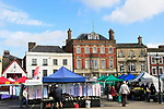 Market day in town centre of Devizes, Wiltshire, England, UK