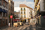 Street and housing in Barrio Macarena, Seville, Spain