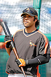 9 March 2007: Baltimore Orioles second baseman Brian Roberts prepares to take batting practice prior to facing the Washington Nationals at Fort Lauderdale Stadium in Fort Lauderdale, Florida. <br /> <br /> Mandatory Photo Credit: Ed Wolfstein Photo