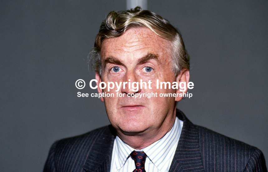 John Morris, MP, Labour Party, UK, 19870923JM.<br />