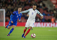 Nathan Redmond (Southampton) of England in action during the Under 21 International Friendly match between England and Italy at St Mary's Stadium, Southampton, England on 10 November 2016. Photo by Andy Rowland.