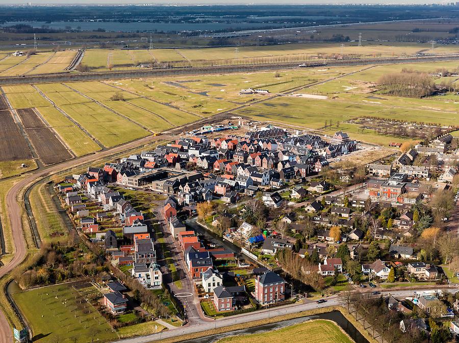 Nederland, Utrecht, Gemeente Stichtse Vecht, 20-02-2012; Loenen aan de Vecht, Nieuwbouwwijkje.New housing district in the village of Loenen aan de Vecht. luchtfoto (toeslag), aerial photo (additional fee required);.copyright foto/photo Siebe Swart.
