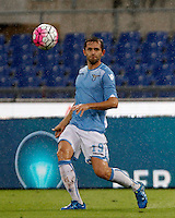 Calcio, Serie A: Lazio vs Udinese. Roma, stadio Olimpico, 13 settembre 2015.<br /> Lazio&rsquo;s Senad Lulic in action during the Italian Serie A football match between Lazio and Udinese at Rome's Olympic stadium, 13 September 2015.<br /> UPDATE IMAGES PRESS/Isabella Bonotto