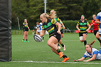20190928 - Neder Over Hembeek, BELGIUM : Dendermonde's  AAC Amsterdam's pictured during the female rugby match between the Dendermonde RC Women  and AAC Amsterdam Rugby Women, this is the final of the BeNeCup  on Saturday 28th September 2019 at the Nelson Mandela Stadium , Belgium. PHOTO SPORTPIX.BE | SEVIL OKTEM