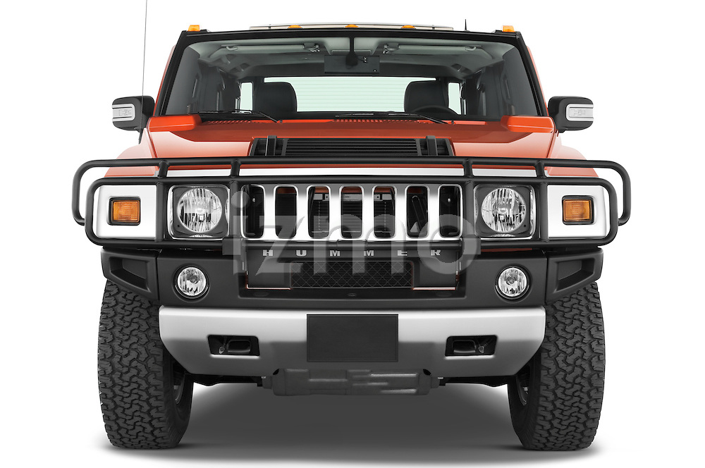 Straight front view of a 2008 Hummer H2 SUT