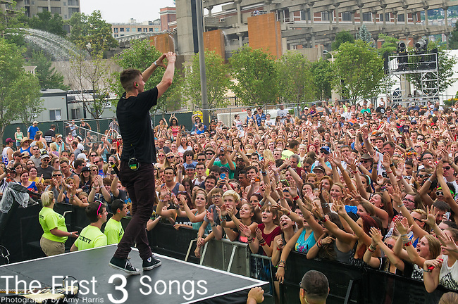 David Boyd of New Politics performs at the 2014 Bunbury Music Festival in Cincinnati, Ohio