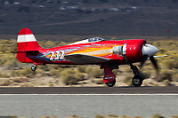 Pilot Hoot Gibson gets airborne in the Hawker Sea Fury 232 at the 2013 National Championship Air Races in Reno, Nevada.