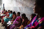 Woman patients wait for their turn at the general OPD of the Duncan Hospital in Raxaul, Bihar, India.