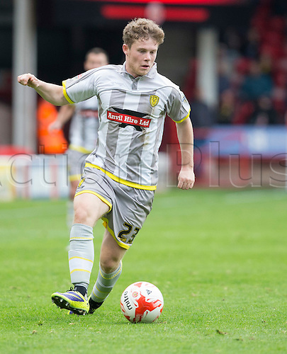 10.10.2015. Banks's Stadium, Walsall, England. Skybet League 1. Walsall versus Burton Albion. Burton Albion midfielder Matthew Palmer on the attack