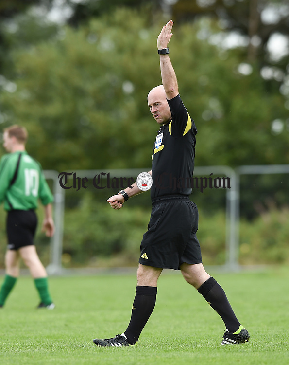 Referee Padraig Sutton during a game at Lees Road. Photograph by John Kelly.