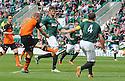 Dundee Utd's Chris Erskine scores their goal.