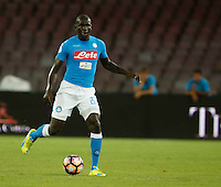 Kalidou Koulibaly  during the friendly soccer match,between SSC Napoli and Onc Nice      at  the San  Paolo   stadium in Naples  Italy , August 02, 2016<br />  during the friendly soccer match,between SSC Napoli and Onc Nice      at  the San  Paolo   stadium in Naples  Italy , August 02, 2016