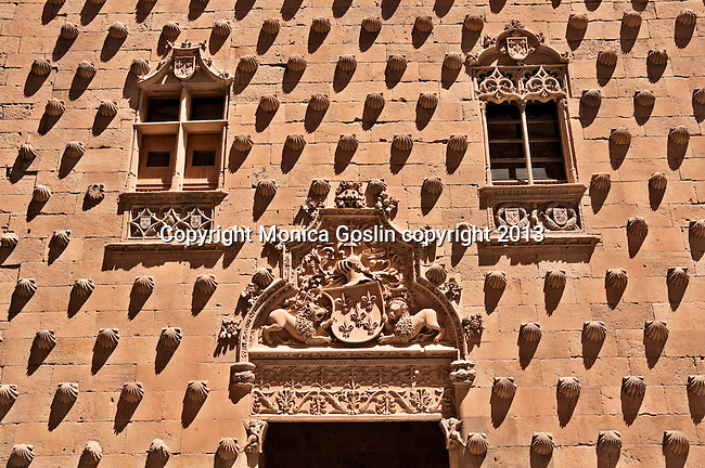 This building was built in the 15th century and was originally a palace but now it is a public library. There are over 300 shells on the facade, sea shells that are the symbol of the Order of Santiago