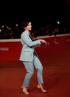 French actress Juliette Binoche dances on the red carpet for a special screening of the movie &quot;The English Patient&quot; during the international Rome Film Festival at Rome's Auditorium, 22 October 2016. The Film Festival celebrates one of the most beloved of Cinema History 'The English Patient' by Anthony Minghella, released twenty years ago (in 1996). <br /> UPDATE IMAGES PRESS/Isabella Bonotto