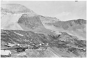 A panoramic view of a mining complex, possibly high above Pandora, maybe Savage Basin.<br /> RGS  Pandora ?, CO