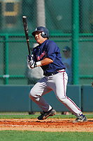 18 March 2007:  Cesar Reyes of the Atlanta Braves in a game against the Detroit Tigers at the Atlanta Spring Training camp at the Disney Wide World of Sports complex in Kissimmee, Fla. (Tom Priddy/Four Seam Images)