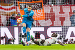13.03.2019, Allianz Arena, Muenchen, GER, UEFA CL, FC Bayern Muenchen (GER) vs FC Liverpool (GBR) ,Achtelfinale, UEFA regulations prohibit any use of photographs as image sequences and/or quasi-video, im Bild Manuel Neuer (FCB #1) im kampf mit Sadio Mane (Liverpool #10) <br /> <br /> Foto &copy; nordphoto / Straubmeier
