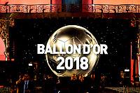 Logo Pallone d'Oro <br /> Parigi 3-12-2018 <br /> Arrivi Cerimonia di premiazione Pallone d'Oro 2018 <br /> Foto JB Autissier/Panoramic/Insidefoto <br /> ITALY ONLY