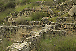 Israel, Shephelah, Beth Guvrin national park, ruins of shops and houses from the Hellenistic period in Tel Maresha