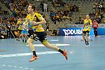 GER - Mannheim, Germany, September 23: During the DKB Handball Bundesliga match between Rhein-Neckar Loewen (yellow) and TVB 1898 Stuttgart (white) on September 23, 2015 at SAP Arena in Mannheim, Germany. Final score 31-20 (19-8) .  Stefan Rafn Sigurmannsson #11 of Rhein-Neckar Loewen<br /> <br /> Foto &copy; PIX-Sportfotos *** Foto ist honorarpflichtig! *** Auf Anfrage in hoeherer Qualitaet/Aufloesung. Belegexemplar erbeten. Veroeffentlichung ausschliesslich fuer journalistisch-publizistische Zwecke. For editorial use only.