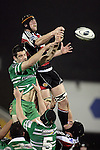 Andrew Van der Heijden & Hayden Triggs compete for lineout ball during the Air New Zealand rugby game between Counties Manukau Steelers & Manawatu, played at Mt Smart Stadium on the 22nd of September 2006. Counties Manukau 25 - Manawatu 25.