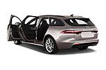 Car images close up view of a 2018 Jaguar XF Sportbrake R Sport 5 Door Wagon doors