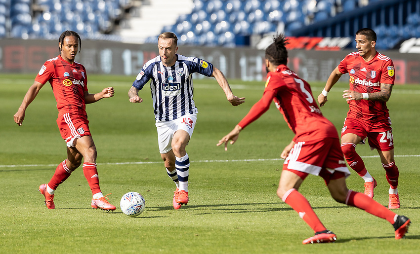 West Bromwich Albion's Kamil Grosicki (2nd left) breaks <br /> <br /> Photographer Andrew Kearns/CameraSport<br /> <br /> The EFL Sky Bet Championship - West Bromwich Albion v Fulham - Tuesday July 14th 2020 - The Hawthorns - West Bromwich <br /> <br /> World Copyright © 2020 CameraSport. All rights reserved. 43 Linden Ave. Countesthorpe. Leicester. England. LE8 5PG - Tel: +44 (0) 116 277 4147 - admin@camerasport.com - www.camerasport.com