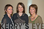 Valerie Claret, Valerie Carroll and Marie O'Brien at the fashion show in the Killarney Court hotel on Thursday night.....   Copyright Kerry's Eye 2008