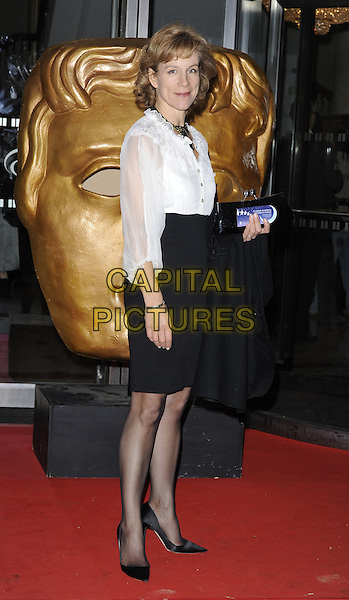JULIET STEVENSON .At the EA British Academy Children's Awards, Hilton Park Lane, London, England, UK, 29th November 2009..BAFTA BAFTAs full length white shirt tucked in black skirt high waisted tights shoes clutch bag blouse  .CAP/CAN.©Can Nguyen/Capital Pictures