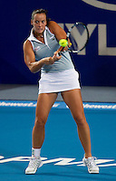 JARMILA GAJDOSOVA (AUS) against  ANABEL MEDINA GARRIGUES (ESP) in the group stage of the Hopman Cup. Australia beat Spain 6-3 3-6 6-3..01/01/2012, 1st January 2012, 01.01.2012..The HOPMAN CUP, Burswood Dome, Perth, Western Australia, Australia.@AMN IMAGES, Frey, Advantage Media Network, 30, Cleveland Street, London, W1T 4JD .Tel - +44 208 947 0100..email - mfrey@advantagemedianet.com..www.amnimages.photoshelter.com.