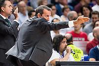 Unicaja Malaga's player coach Joan Plaza during match of Liga Endesa at Barclaycard Center in Madrid. September 30, Spain. 2016. (ALTERPHOTOS/BorjaB.Hojas) /NORTEPHOTO.COM