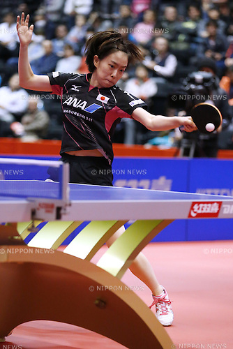 Kasumi Ishikawa (JPN), OCTOBER 31, 2015 - Table Tennis : 2015 ITTF Women's World Cup Sendai in Sendai, Japan. (Photo by Sho Tamura/AFLO SPORT)
