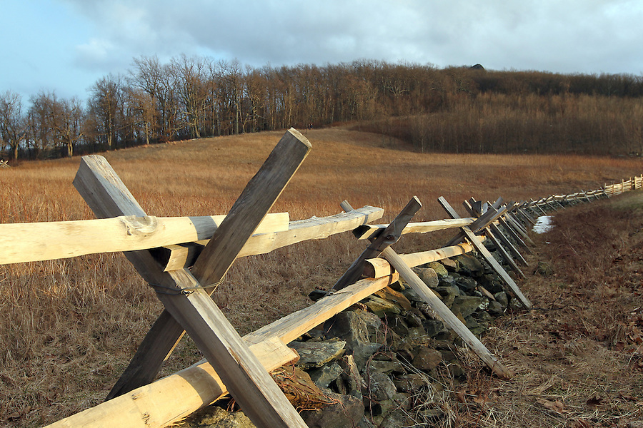 Old time fence line on the Blue Ridge Parkway in Nelson County, VA. Photo/Andrew Shurtleff