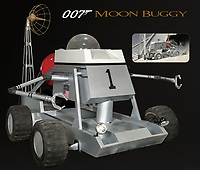 BNPS.co.uk (01202 558833)<br /> Pic: ProfilesInHistory/BNPS<br /> <br /> James Bond's iconic moon buggy from Diamonds Are Forever has emerged for sale for £490,000 ($600,000).<br /> <br /> Sean Connery can be seen in the 1971 film driving across the Nevada desert in it while escaping from villain Willard Whyte.<br /> <br /> Unlike other Bond vehicles, this was the only one of its type ever built, and it was subsequently used on a worldwide publicity tour to promote the film's release.<br /> <br /> The 13.5ft long, 8.5ft high, 8.5ft wide buggy has a steel frame clad in aluminium panelling with a distinctive Plexiglass dome on top.