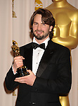 HOLLYWOOD, CA. - March 07: Writer Mark Boal  poses in the press room at the 82nd Annual Academy Awards held at the Kodak Theatre on March 7, 2010 in Hollywood, California.