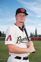 Visalia Rawhide first baseman Pavin Smith (6) poses for a photo before a California League game against the Stockton Ports at Visalia Recreation Ballpark on May 10, 2018 in Visalia, California. (Zachary Lucy/Four Seam Images via AP Images)