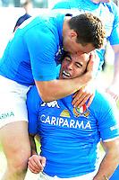 esultanza di Gonzalo Canale (Italia) in meta<br /> Italia vs Galles<br /> RBS 6 Nations Rugby Championship 2011<br /> Stadio Flaminio;<br /> Roma, 26/02/2011<br /> Photo Antonietta Baldassarre Insidefoto