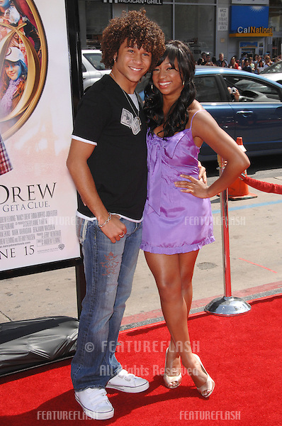 "Monique Coleman & Corbin Bleu at the world premiere of ""Nancy Drew"" at Grauman's Chinese Theatre, Hollywood..June 9, 2007  Los Angeles, CA.Picture: Paul Smith / Featureflash"